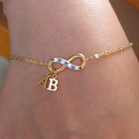 Initial Name Bracelet - Infinity Bracelet - A Perfect Gift - Unique Gift For Girlfriend