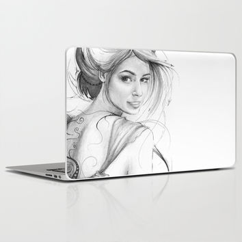 Beautiful Fairy Drawing Laptop & iPad Skin by Olechka
