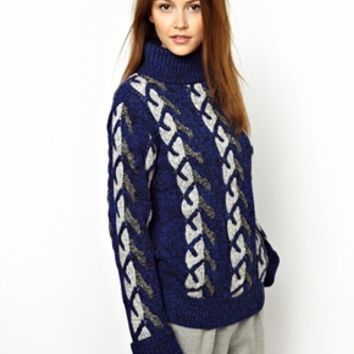 Vanessa Bruno Athé Jaquard Chunky Knitted Sweater - Jacquard klein