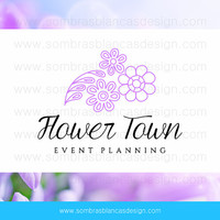 OOAK Premade Logo Design - Lavender Flowers - Perfect for an event planning business or a florist studio