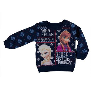 Frozen - Sisters Forever Toddler Ugly Christmas Sweater Blue Sweatshirt Day-First™