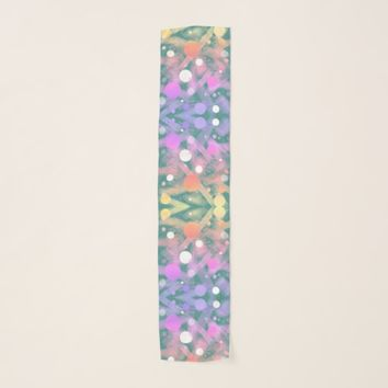 Dreamy Abstract Art Rainbow Colors Scarf