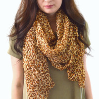 Cheetah Printed Scarf, Summer Scarf, Woman Scarf, Womans Gift, Spring Scarf