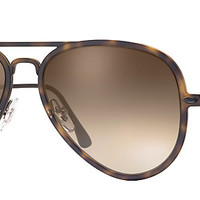 Ray-Ban RB4211 894/13 56-17 AVIATOR LIGHT RAY II Tortoise sunglasses | Official Online Store US
