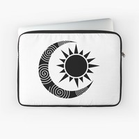 'moon and sun ' Laptop Sleeve by abstractify-me