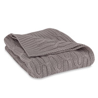 Acrylic Cable Knit Throw