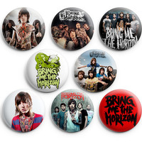 Bring Me The Horizon Pinback Buttons Badge 1.25 inch (Set of 8) NEW