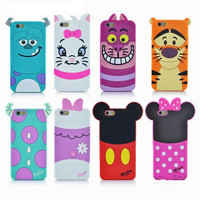 New Soft Silicon  3D Cartoon Cover Phone Case For iphone 6 6S 4.7""