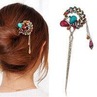 Fashion Women Hair Clips Hairpin Butterfly Jewelry Rhinestone Hair Accessories