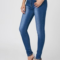 High Waist Dark Washed Skinny Jeans
