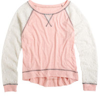 Delia's Lace-Sleeve Dorito Long-Sleeve - Pink