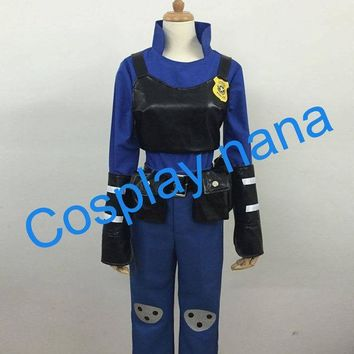 2016 Hot Movie Zootopia Cosplay Uniforms Rabbit Judi Cos Police Uniforms Halloween Costumes For Women Anime Clothing