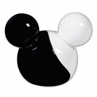 disney parks mickey ears ying yang salt pepper shakers new sealed