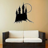 Wall Stickers Vinyl Decal Medieval Castle Scary Horror Full Moon Unique Gift (ig912)