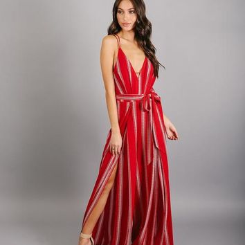 Red My Mind Jumpsuit