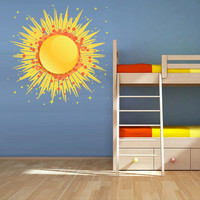 Full Color Full Color Wall Decal Mural Sticker Bedroom Living Room Poster Decor Art  Stars Sun Moon Day Night  (Col707)