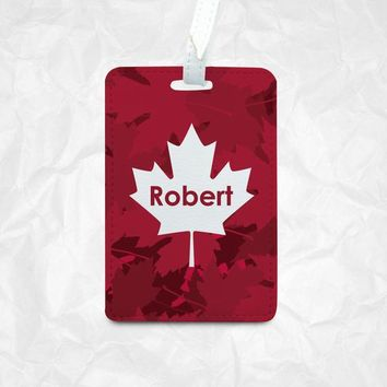 Maple leaf personalized luggage tag, bag tag, backpack tag, Custom Luggage Tag, Personalized Luggage Tag, Bag Tag, Gift