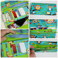Tri Fold Women's Wallet, Phone Wallet, Clutch with 24 Credit Card Pockets, ID Window, Also Holds Cash, Coupons & Checkbook, Zippered Pocket