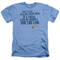 SMOKEY AND THE BANDIT/LACK OF RESPECT - ADULT HEATHER - LIGHT BLUE -