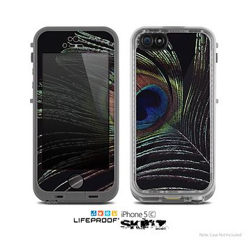 The Dark Peacock Spread Skin for the Apple iPhone 5c LifeProof Case