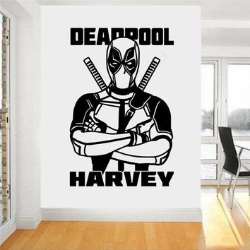 Deadpool Dead pool Taco  Marvel Superhero Children's Decal Wall Art Sticker/Decal Boy Room Home Decor Wall Decals Wall Sticker U36 AT_70_6