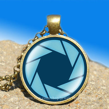 portal valve glados aperture science vintage pendant-necklace ready for gifting Buy 3 and get the 4th one free