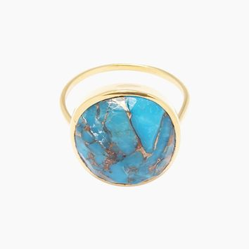 14K Gold Vermeil Turquoise Statement Ring