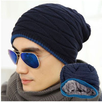 New Year  Fashion Knitted Hats For Men and Women Reversible