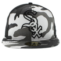Chicago White Sox The Meshed Fit 59fifty - White Camo By New Era Cap