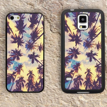 Palm trees iPhone Case-iPhone 5/5S Case,iPhone 4/4S Case,iPhone 5c Cases,Iphone 6 case,iPhone 6 plus cases,Samsung Galaxy S3/S4/S5-060