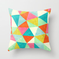 Movement Throw Pillow by Jacqueline Maldonado