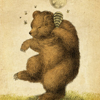 Honey Bear Art Print by Eric Fan