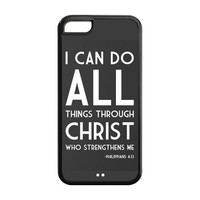 Bible Philippians 4 13 Bible verse Hard Plastic Back Protective case for iphone 5C TPU