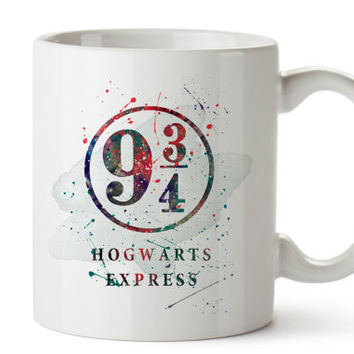 Harry Potter Platform 9 3/4 Watercolor Coffee Mug, Kids Mug, Disney Mug