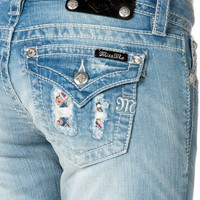 Miss Me Junior's Ikat Pop Distressed Skinny Jeans