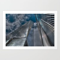 World Trade Center Art Print by Claude Gariepy