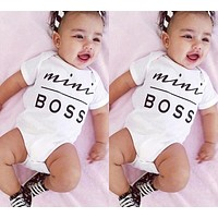 Baby Girl Boys Clothing Cotton Infant Overall Shirt Short Sleeve Bodysuits Baby Clothing