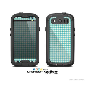The Vintage Blue Plaid Skin For The Samsung Galaxy S3 LifeProof Case