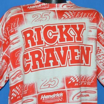 90s Ricky Craven NASCAR Print All Over t-shirt Extra Large