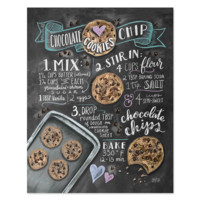 Choc Chip Cookie Recipe - Print & Canvas