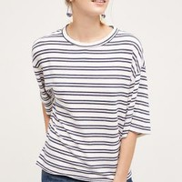 Stateside Sea Stripe Pullover in Navy Size: