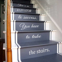 Wall Decals Quote Life Quotes Staircase Stairway Stairs Phrase Art Mural Vinyl Decal Sticker Interior Design Decor KG752