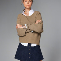 Womens Ribbed Dolman Sweater | Womens Tops | Abercrombie.com