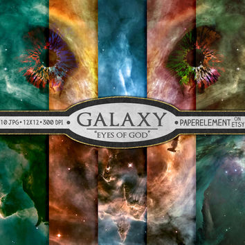 Galaxy Digital Paper: Space Digital Paper, Galaxy Backgrounds, Space Backgrounds, Printable Space Backdrops, Galaxy Digital Images Download