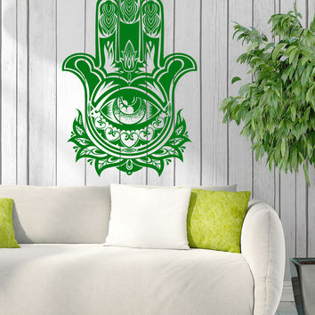 Wall Stickers Vinyl Decal Menhdi Hamsa Hand  Buddha Interior Decor Unique Gift z4602