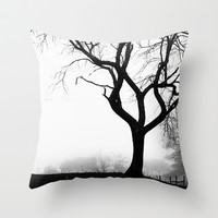 Ghost town Throw Pillow by Courtney Burns