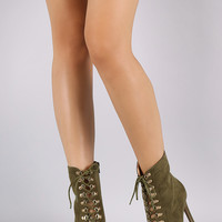 Suede Stiletto Heeled Ankle Boots | UrbanOG