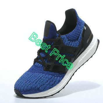 Sneaker paint Adidas Ultra Boost 2017 PrimeKnit Core Black Royal sneaker