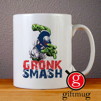 Incredible Gronk Smash Ceramic Coffee Mugs