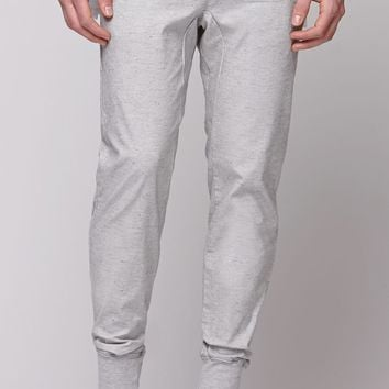 Modern Amusement Fleck Ribbed Cuff Jogger Pants - Mens Pants - Gray